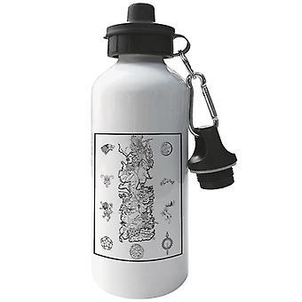 Game Of Thrones War For Westeros Map Dark Aluminium Sports Water Bottle