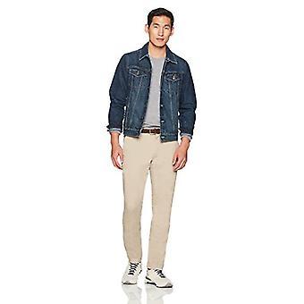Goodthreads Men's Slim-Fit Washed Stretch Chino Pant, Khaki, 32W x 32L