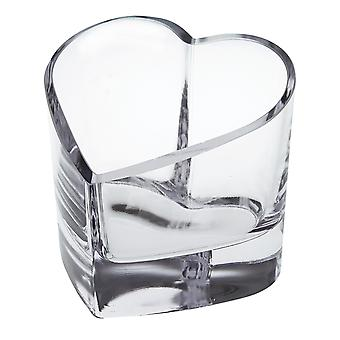 Mouth Blown European Crystal Heart Bowl or Votive