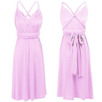 Women's Wedding Convertible Multiway Wrap Evening Party Short Dress
