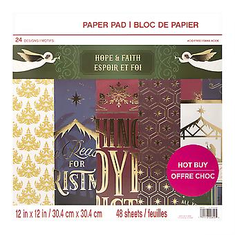 Craft Smith Hope & Faith 12x12 Inch Paper Pad