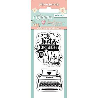 Stamperia Skrivmaskin Tydliga frimärken