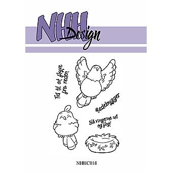 NHH Design Flying & Sitting Bird Clear Stamps