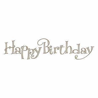 Spellbinders Faux Script Happy Birthday Hot Foil Plate