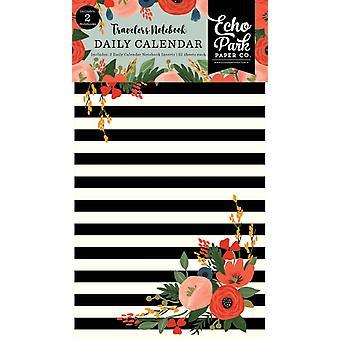 Echo Park Full Bloom Travelers Notebook Insert Daily Calendar