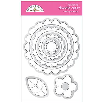 Doodlebug Design Pesivä kampasimpukat Doodle Leikkaukset