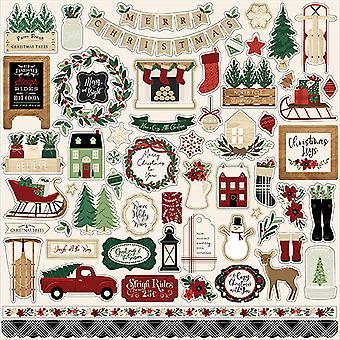 Echo Park Un accogliente Natale 12x12 pollici adesivo elemento
