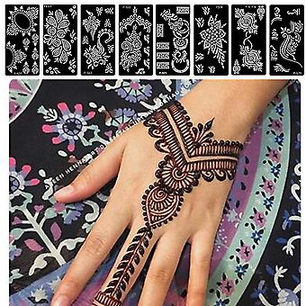 Random Style Rose Lace Flower Henna Tattoo - Diy Body Painting