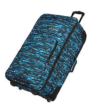 travelite Basics Kaksikerroksinen vaunun matkalaukku 2 pyörää, 78 cm, 100 L, Sininen