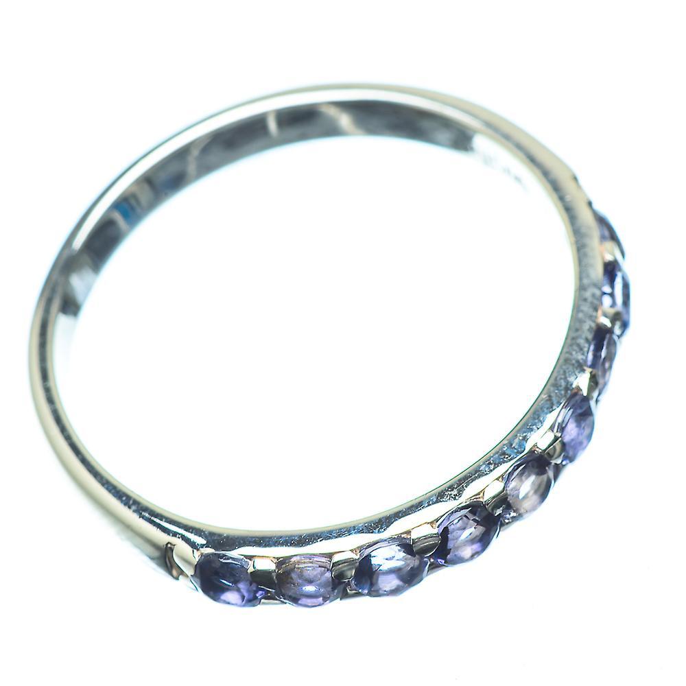 Sammlungen Fantastisk pris Faceted Tanzanite Ring Size 11 (925 Sterling Silver)  - Handmade Boho Vintage Jewelry RING22885 CR2Jc