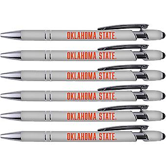 Greeting Pen Oklahoma State Soft Touch Coated Metal 6 Pack 30545