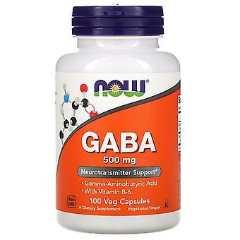 Maintenant Aliments, GABA, 500 mg, 100 capsules de légumes