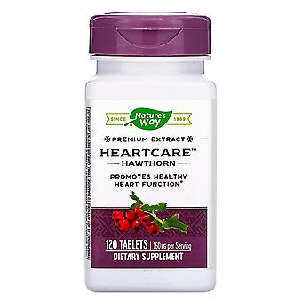 Nature-apos;s Way, HeartCare, Hawthorn, 160 mg , 120 Comprimés