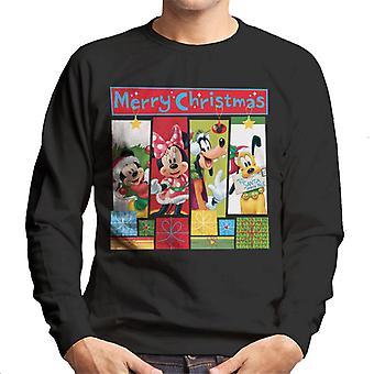 Disney Navidad Mickey Mouse Montage Merry Xmas Hombres's Sudadera