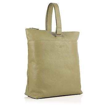 Molly Leather Tote Backpack in Sage Green Richmond Chrome Free Leather