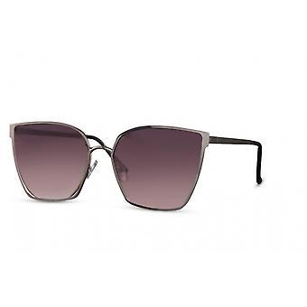 النظارات الشمسية المرأة فراشة halbrandlos كات. 3 فضي/ بنفسجي
