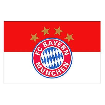 FC Bayern Munich Official Football Crest Supporters Flag