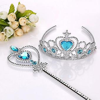 Frozen 2 Hair Wear Elsa Princess Birthday Party Headband Magic Wand Crown Set