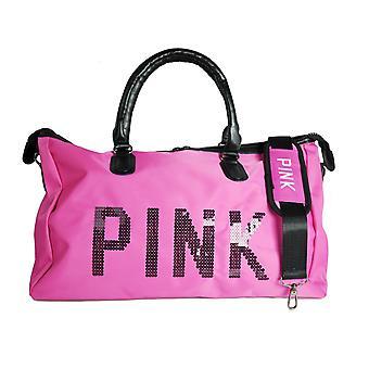 Women'ق قماش الوردي Duffle عطلة السفر حقيبة الكتف