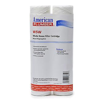 W5W American Plumber Whole House Sediment Filter Cartridge (2-Pack)