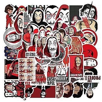 10/50pcs/tv-show Geld Heist La Casa De Papel Sticker Voor Bagage Laptop,