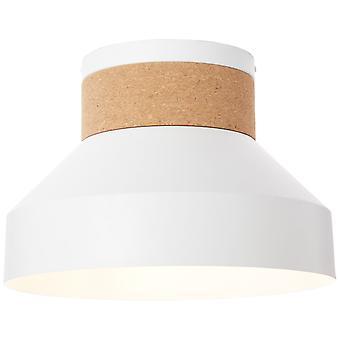 BRILLIANT Lampe Moka Deckenleuchte weiß matt/braun   1x A60, E27, 60W, geeignet für Normallampen (nicht enthalten)   Skala