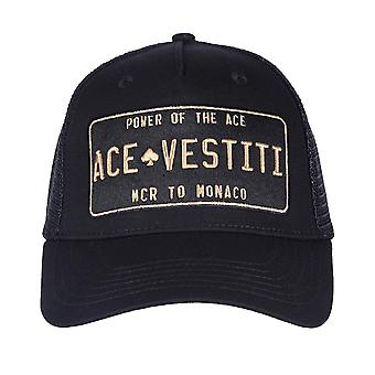 Ace Vestiti Plaqué Maille Trucker Cap - Noir / Or