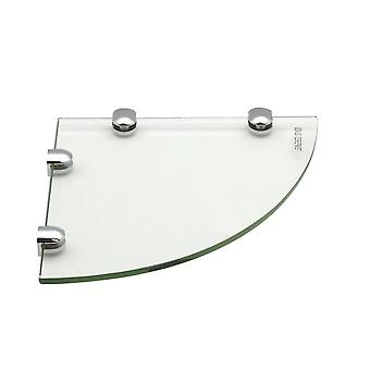Glass Corner Bathroom / Bedroom Shelf - 200x200mm