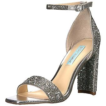 Betsey Johnson Womens Rina Fabric Open Toe Special Occasion Ankle Strap Sandals
