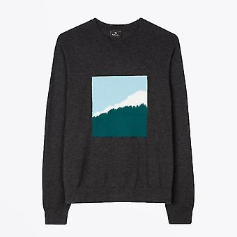 PS Paul Smith  - Merino-Blend Mountain Sweater - Charcoal Grey
