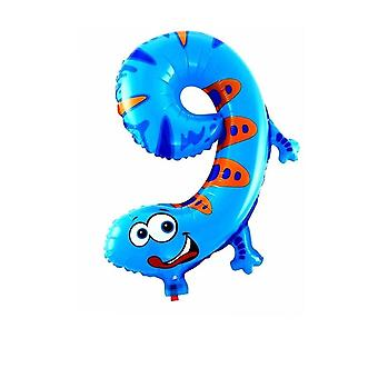 Animal Cartoon, Number Foil Balloons Party Hat Birthday Party