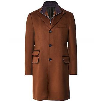 Corneliani Virgin Wool Zip-Insert Overcoat