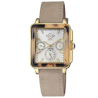 Gv2 Tekijä Gevril Women's 9226.6 Bari Tortoise Diamonds Tan Suede Swiss Date Watch