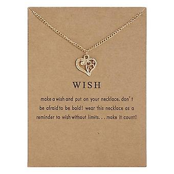 Wish - necklace 18K gold plated gift wish