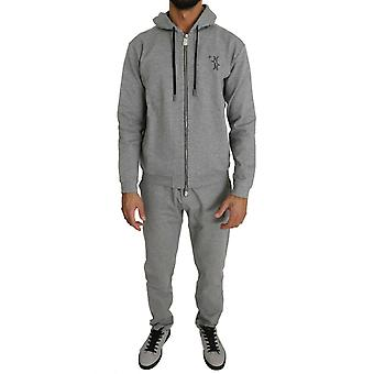 Pantaloni pulover din bumbac gri trac87930455