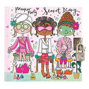 Flickor låsbara skämma bort part hemlig dagbok