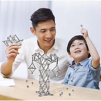 Diy Magnetic Building Blocks Construction Set, Puzzle Stacking Game, Sculpture