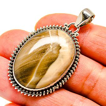 "Imperial Jasper 925 Sterling Silver Pendant 2""  - Handmade Boho Vintage Jewelry PD741652"