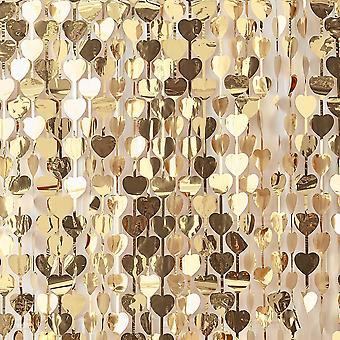 Gold Heart Taustaa - Gold Wedding 1m