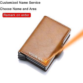 Hiili, kuitu, nahka lompakko rahapussi kukkaro Mini kortin haltija