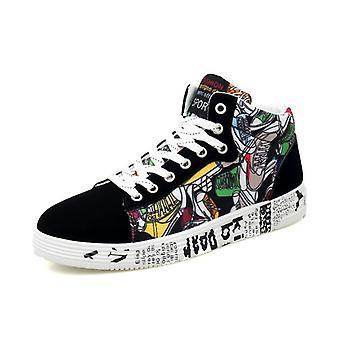 Módne tenisky, klasické graffiti čipky-up príležitostné topánky