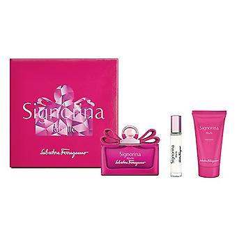 Kvinders Parfume Set Signorina Ribelle Salvatore Ferragamo EDP (3 stk (3 stk)