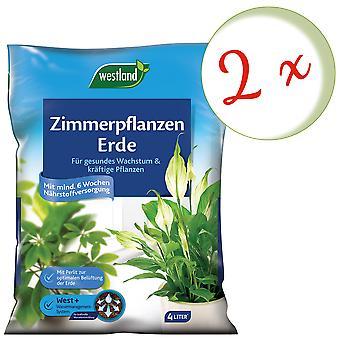 Sparset: 2 x WESTLAND® houseplants earth, 4 liters