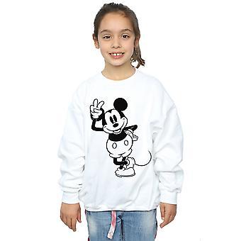 Disney Girls Mickey Mouse Peace Hand Sweatshirt