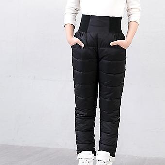 السراويل الشتوية الدافئة,,, الخصر العالي، والملابس، والسراويل طويلة