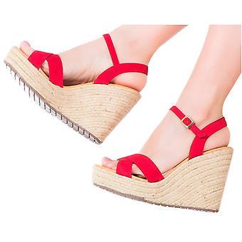 Espadrille Sandals Silvia Cobos Crisscross Red