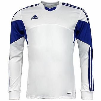 Adidas Tiro 13 LS Climacool Biela modrá Pánske Futbalový tréning Jersey Z20260 A77D