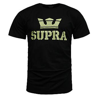 Supra Above Mens T Shirt Short Sleeved Top Casual Black 104000 006 RW88