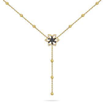 Collar alfombra roja constelación de invierno escarcha, oro de 18K y diamantes - oro amarillo
