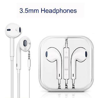 9D trådbundna hörlurar Stereoljud i-örat öronsnäckor med Typ-C hörlurar Plug Mikrofon volymkontroll